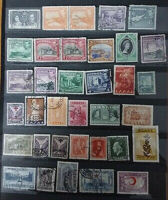 Stamps of Cyprus 15 mostly KGVI, Greece 18 and Turkey 18