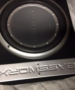 "RF dual 12"" subs in box"