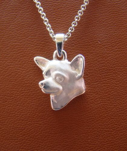 Sterling Silver Chihuahua Head Study Pendant