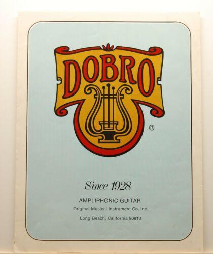Original Vintage ~ 1970's DOBRO Dealer Brochure ~ Original