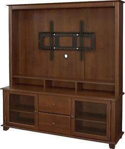 50 034 inch tv stand wooden home entertainment center media storage cabinet ebay. Black Bedroom Furniture Sets. Home Design Ideas