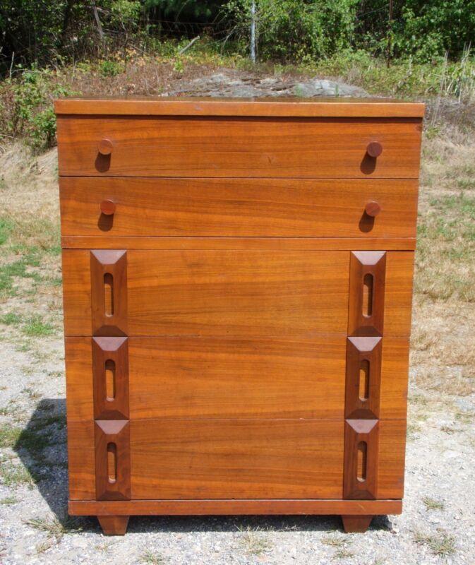 Vintage Mid Century Modern Walnut Highboy Dresser American of Martinsville