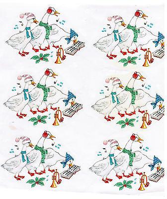 Керамическая Decals Geese Birds Christmas Music