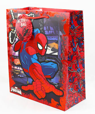 Spiderman Large Gift Bag Wordsearch Puzzle Activity Marvel Boys Kids Birthday