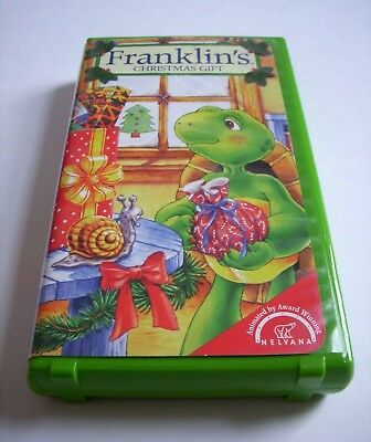 RARE Franklin Turtle Franklin's Christmas Gift EDUCATIONAL VHS 1999 EXCELLENT