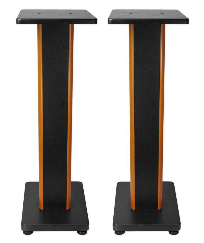"Rockville RHT28C 28"" 2-Tone Bookshelf Speaker Stands Surround Sound Home Theater"