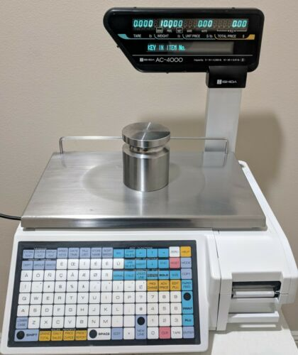 Ishida AC-4000 Retail Printing Scale (15 x 0.005 lb / 30 x 0.01 lb)