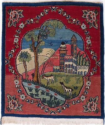 Kashan Roten Teppich (Kashan Teppich Orientteppich Rug Carpet Tapis Tapijt Tappeto Alfombra Landscape)