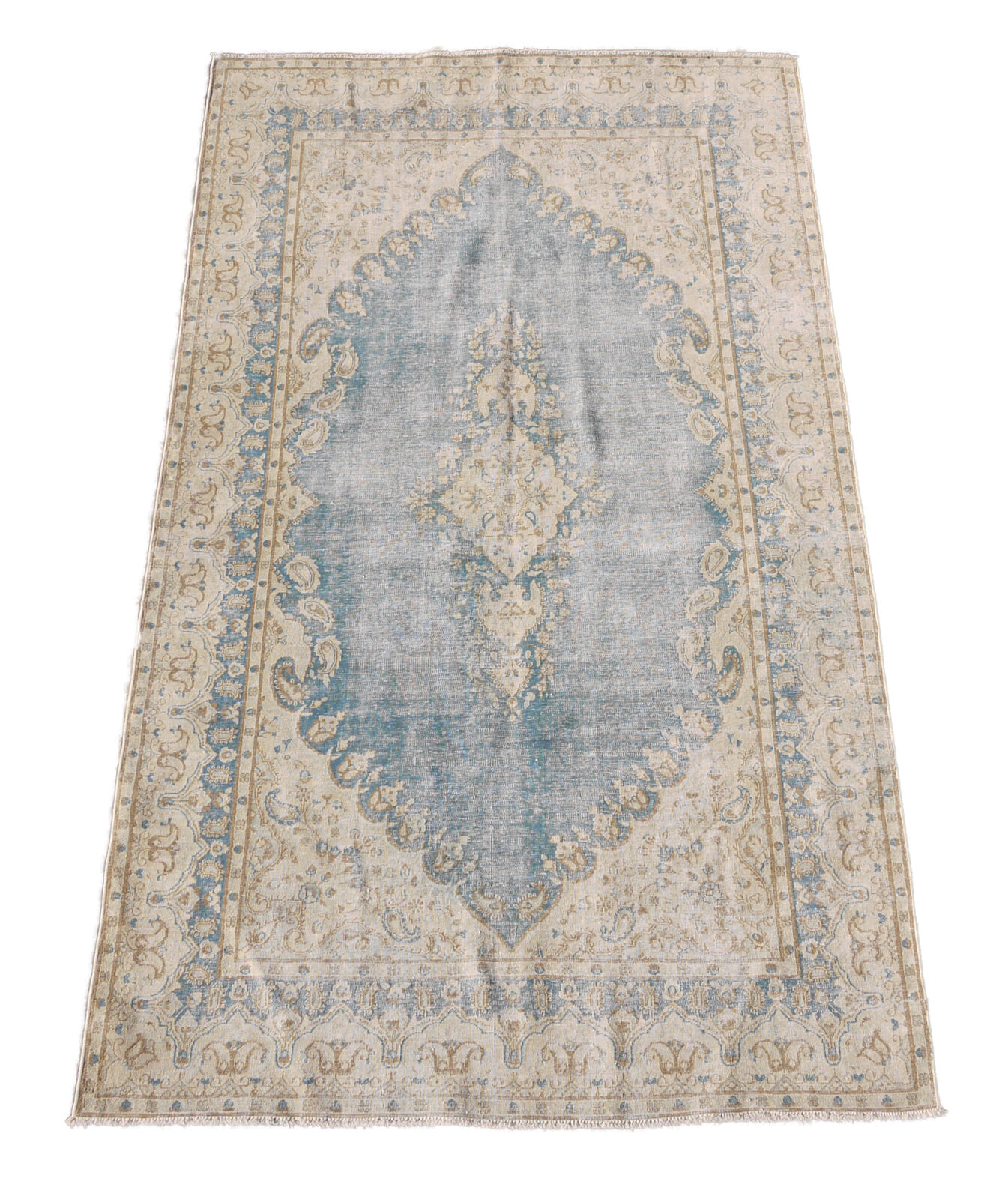 5x8 Washed out Antiqued Intentional Abrash Delicate Handmade Area Rug
