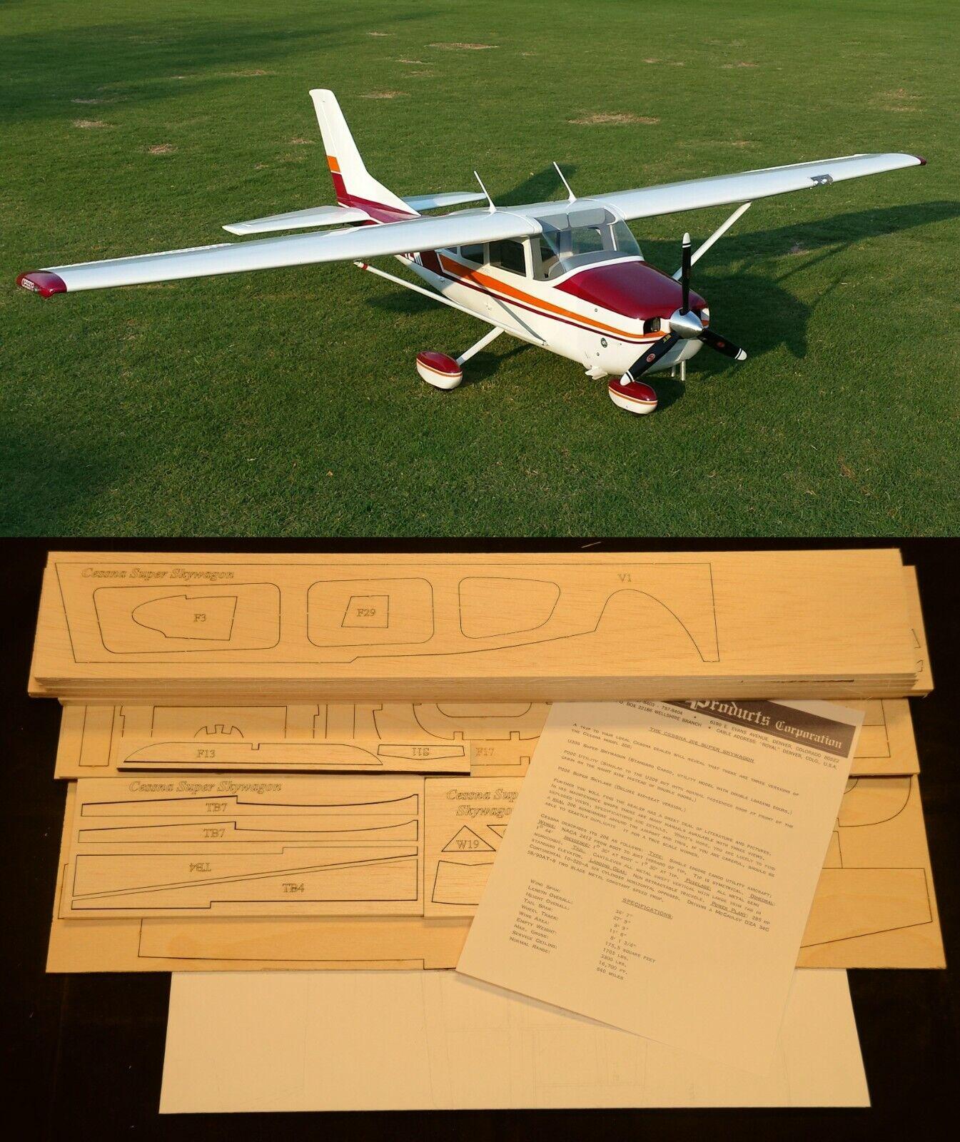 """73""""WS Cessna Super SKYWAGON R/c Plane partial kit-short kit & plans, PLEASE READ"""