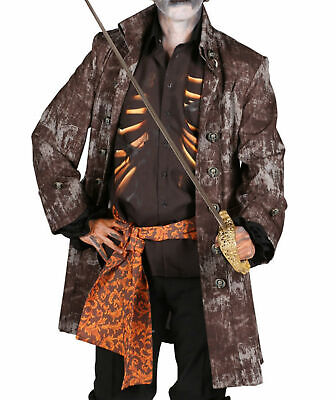 Halloween Kostüm Ghostpirat Geister Pirat Herren Gehrock Hemd Gürtel - Piraten Kostüm Gehrock