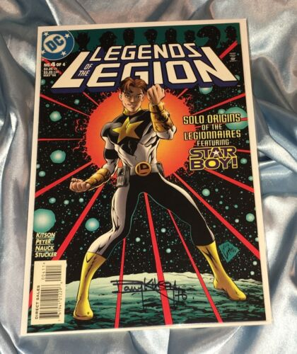 LEGENDS OF THE LEGION #4~HAND-SIGNED BY BARRY KITSON~AZRAEL/SUPERMAN/BATMAN~LOBO