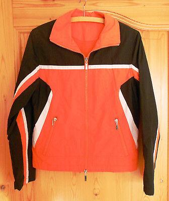 schwarz-orange-weiße Regenjacke, Gr. S