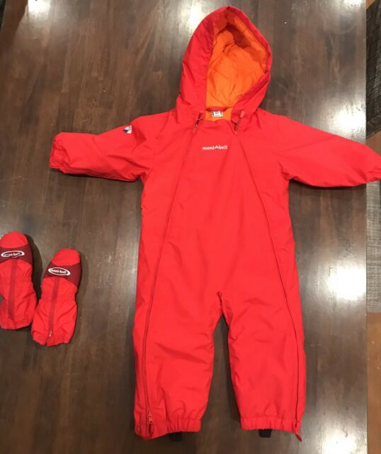 ea13a1ddedd5 Montbell Toddler snowsuit coverall onesie with mittens