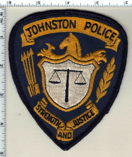 Johnson Police (Iowa) uniform take-off Shoulder Patch from the early 1980