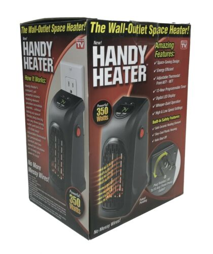 Handy Heater Plug-in Personal Heater Compact Design Quick and Easy Heat