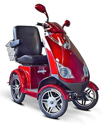 eWheels EW-72 Fast Mobility 4 Wheel Electric Scooter Red 15MPH FREE ALARM NO TAX ()