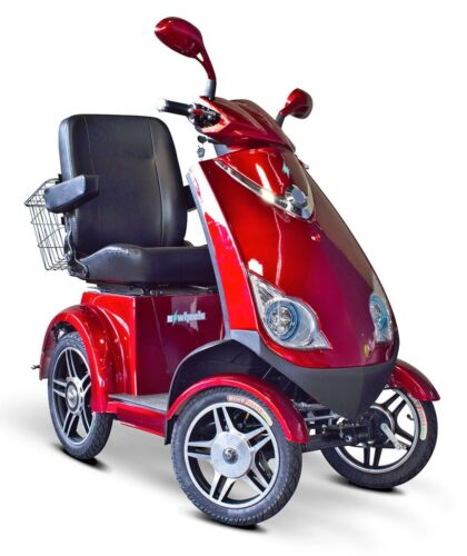 Ewheels Ew-72 Fast Mobility 4 Wheel Electric Scooter Red 15mph Free Alarm No Tax