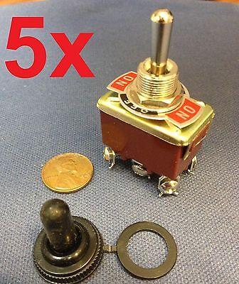 5 Pieces Red Dpdt Momentary Switch Onoffon Toggle Heavy Duty Snow Blower