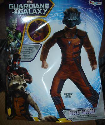Marvel Guardian of the Galaxy Rocket Raccoon dlx Halloween Costume boys S 4/6