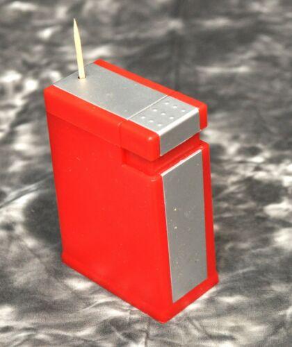 Vintage Red Plastic Melamine Popup Toothpick Dispenser