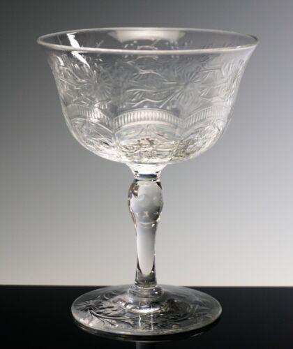 WEBB-CORBETT CRYSTAL CHAMPAGNE or SHERBET Intaglio Cut Glass