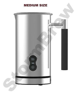 STAINLESS STEEL ELECTRIC MILK FROTHER & WARMER / FOAMER, HOT & COLD WHISK, LATTE