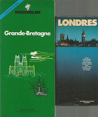 GRANDE BRETAGNE MICHELIN + LONDRES GALLIMARD + PARIS POSTER GUIDE  d'occasion  Expédié en Belgium