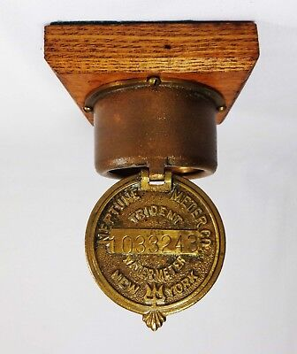 Vint Nyc Trident Solid Brass Hinged Water Meter Cover 1033243 Neptune Meter Co