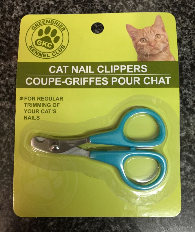 Greenbrier Kennel Club Cat Nail Clippers Grooming Trimmer Scissors (Blue)