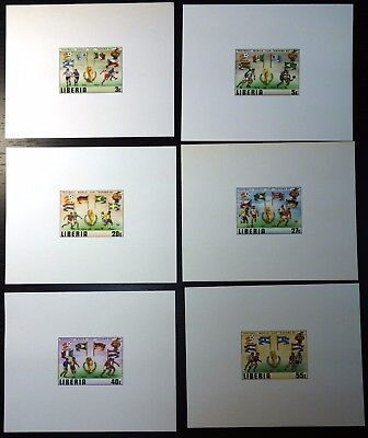 1982 Soccer, Football World Cup, Liberia, 6 s/s, cardboard, MNH (215)