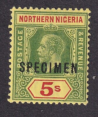 Northern Nigeria 1912  5/- Specimen mint hinged