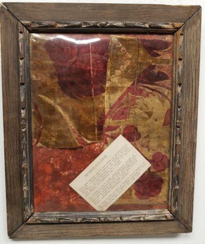 Antique 17th c. Velvet Fragments England THE BOSTON HOUSE VELVET Sir Chris.Wren