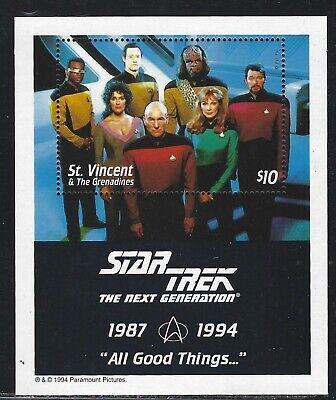 1994 St. Vincent & the Grenadines Sc #2118 - Star Trek Next Generation S/S - MNH