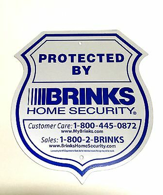 1 Sign Brinks Security Home Alarm Sign Adt L Reflective No Post