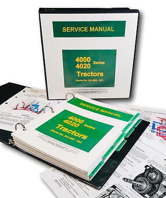 Service Manual For John Deere 4020 4000 Tractor Technical Shop Binder Tm-1006