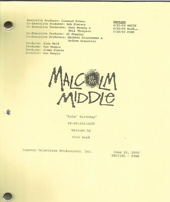 MALCOLM IN THE MIDDLE show script