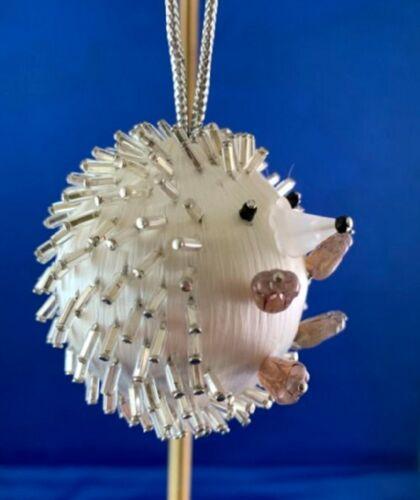 NEW DESIGN! Christmas Ornament Bauble Kit HEDGEHOG Satin Silk Ball Beads