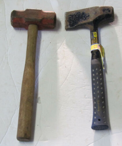 2 Sledge Hammers 1-Estwing Fireside Friend Splitting 4 LB 1- K -Head 4 lb Japan