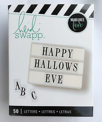 Heidi Swapp Lightbox Alphabet Letter Inserts- Halloween Hallows Eve Black 50pcs (Halloween Abc)