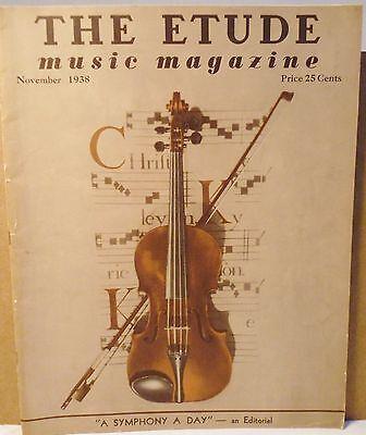 Vtg Etude Music Magazine November 1938 Volume LVI No. 11 For Lovers of Music