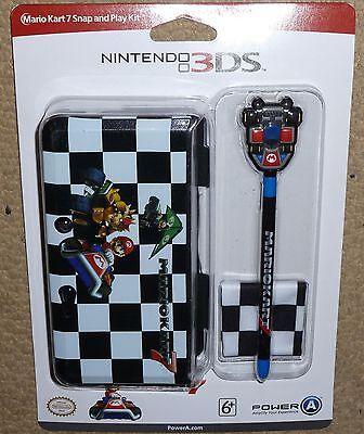 NINTENDO 3DS OFFICIAL PROTECTIVE CONSOLE CLIPON CASE COVER STYLUS NEW Mario Kart