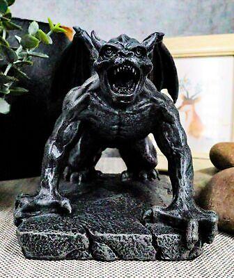 Winged Demonic Bull Gargoyle Statue Gothic Night Crawler Sentry Stone Devil