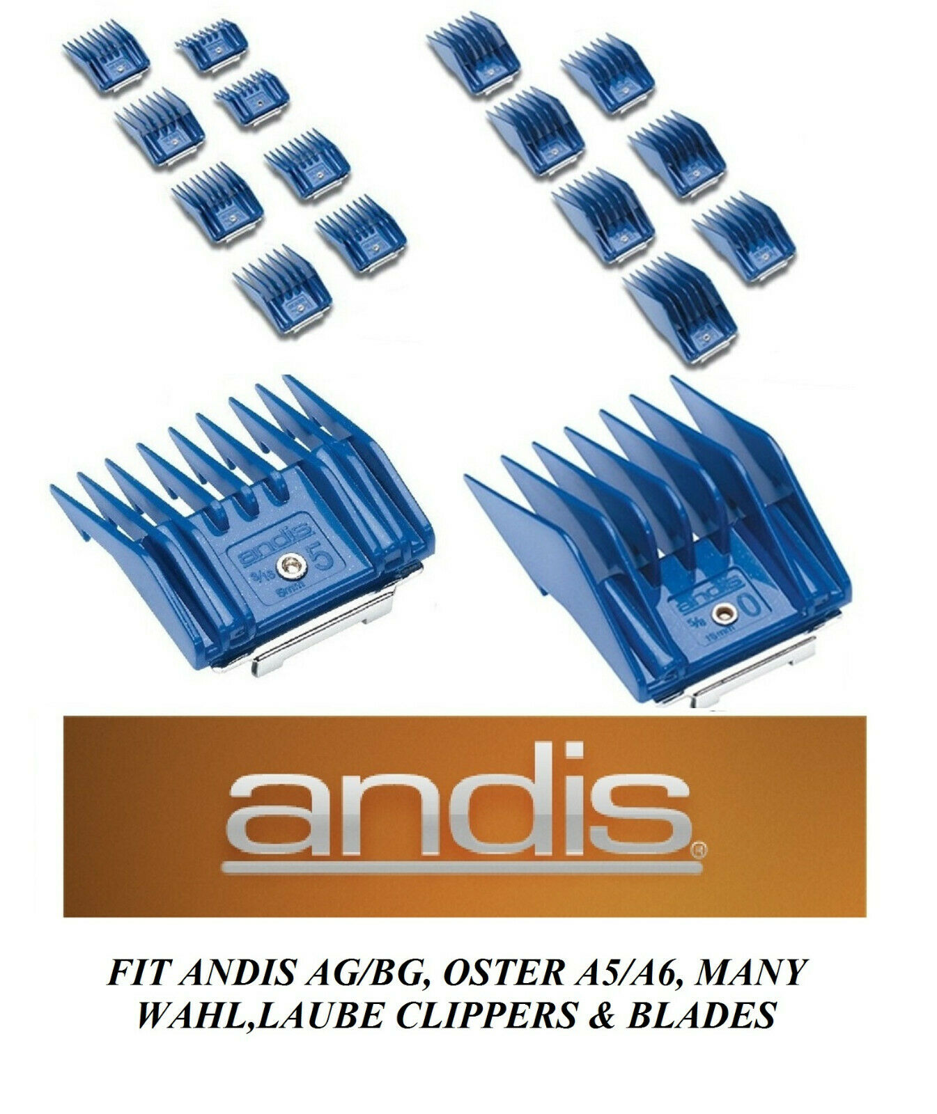 ANDIS ATTACHMENT Guard Guide Blade COMB*Fit Oster A6/A5,Many
