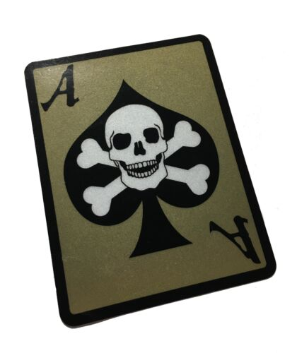 THE 3M REFLECTIVE (DEATH DEALER) ACE CARD Decal / Sticker 4X3""