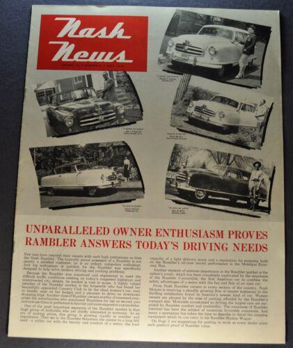 1952 Nash News Catalog Brochure Rambler Owners Excellent Original 52
