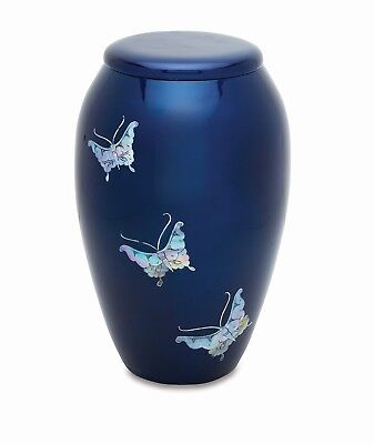 Blue MOP Butterfly Adult Cremation Urn