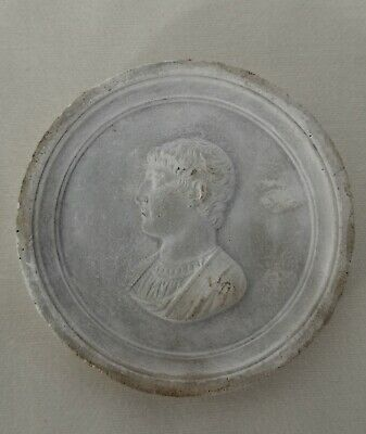 C19th Grand Tour Plaster Intaglio Relief Portrait of Horace - 5.8cm Diameter