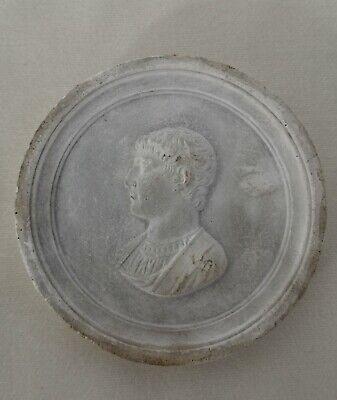 C19th Grand Tour Plaster Intaglio Relief Portrait of Horace - 5.8cm Diameter