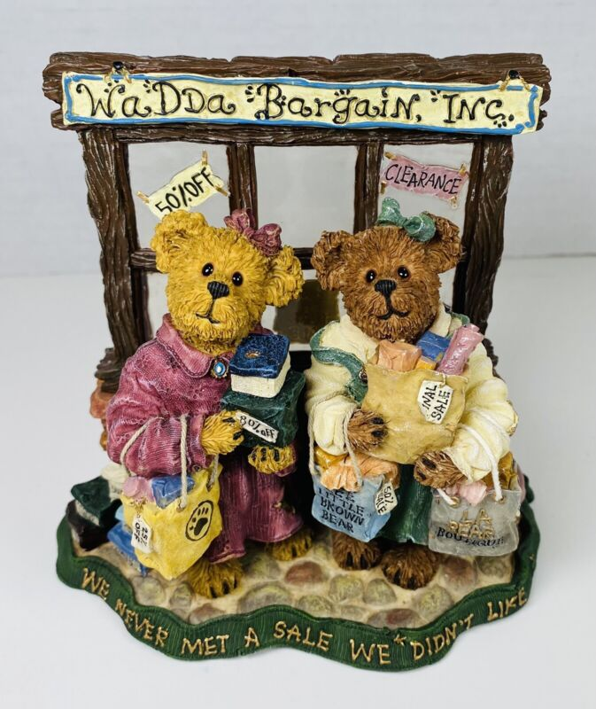 Boyds Bears & Friends Pam and Kristi Shopsalot... What A Bargain #228404 No Box